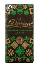 Divine Fairtrade Mint Dark (70%) Chocolate 100g
